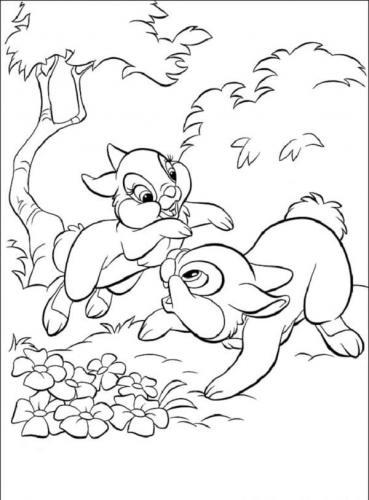 Disegni da colorare coniglietti