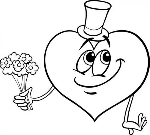 disegni da colorare cuore