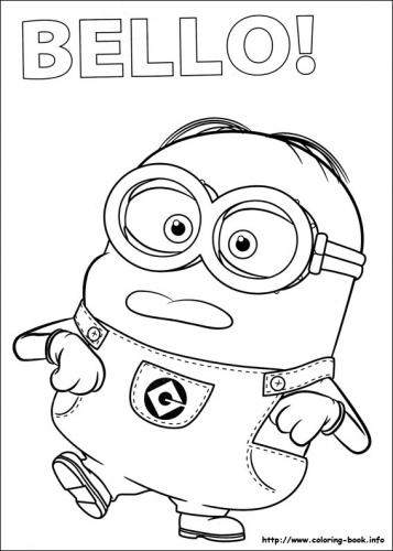 Disegni Da Colorare Minions On Line.Minions A Tutto Donna