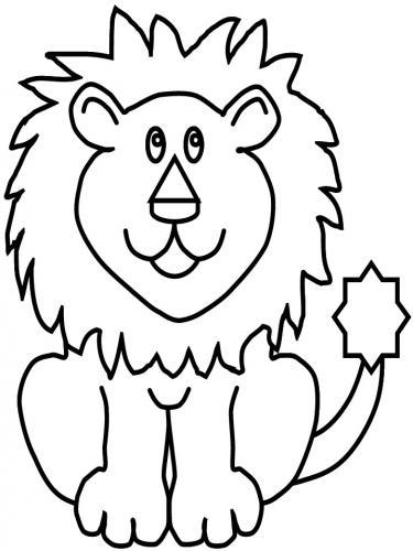 disegni da colorare del leone