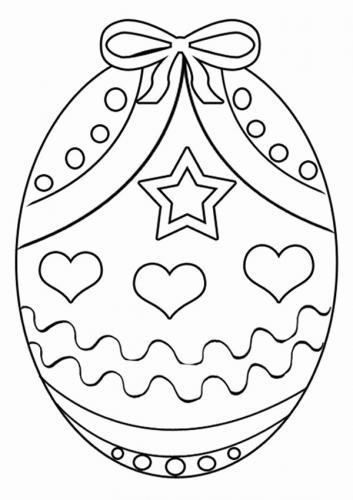 disegni da colorare delle uova di pasqua
