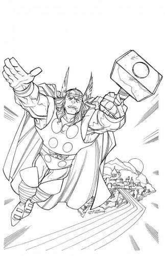 disegni da colorare di Avengers Thor