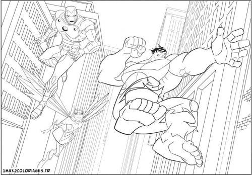 disegni da colorare di Avengers