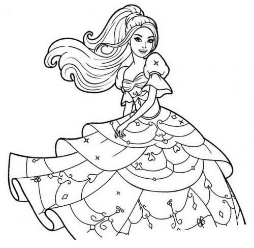 disegni da colorare di barbie principessa