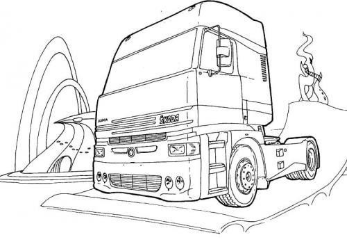 disegni da colorare di camion