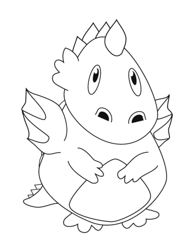 disegni da colorare di draghi