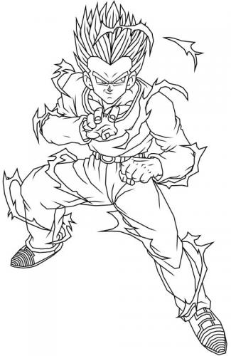 disegni da colorare di Dragon Ball