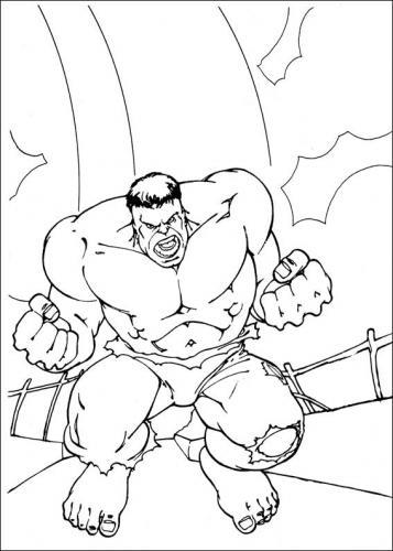disegni da colorare di hulk