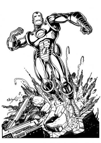 disegni da colorare di Iron Man
