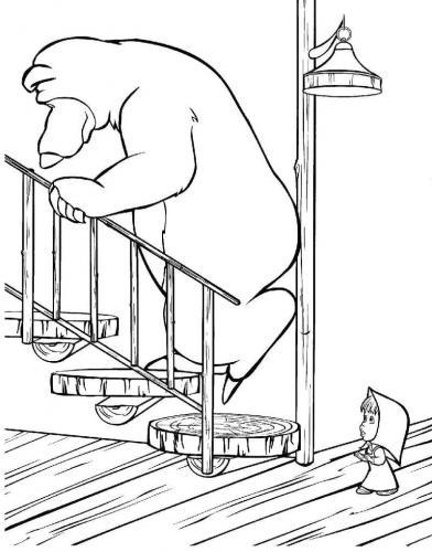 Orso sulle scale di casa