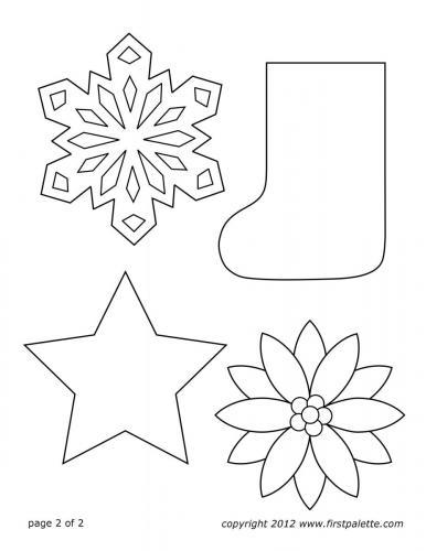 calza, fiocco di neve, stella e fiore natalizio