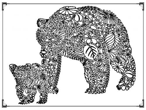 disegni da colorare di orsi