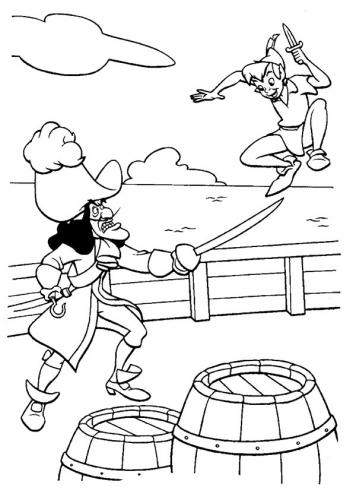 Peter lotta con Capitan Uncino