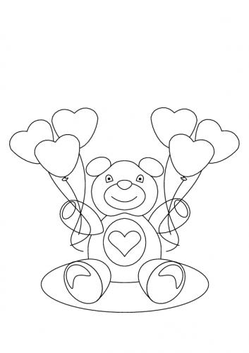 disegni da colorare di san valentino