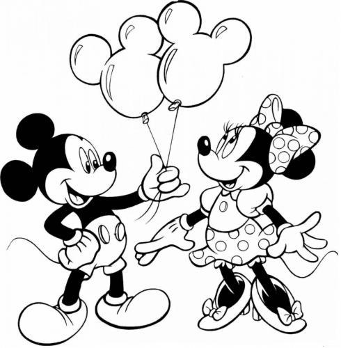 disegni-da-colorare di topolino e minnie