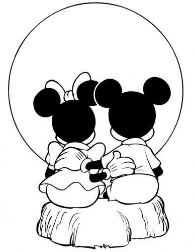 disegni da colorare di topolino e minnie