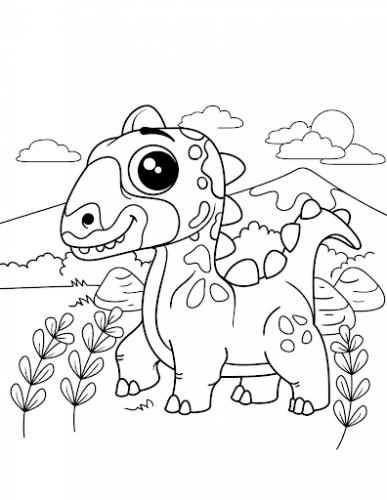 disegni da colorare dinosauri per bambini