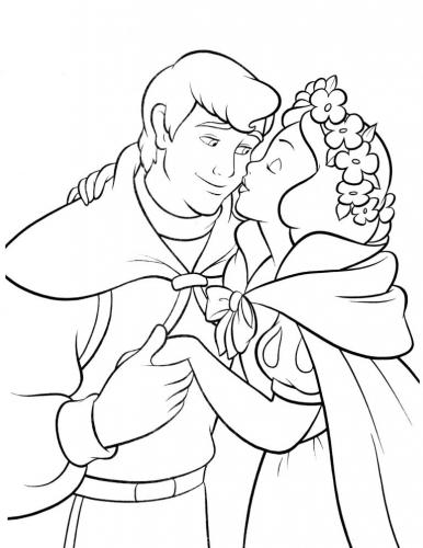 Biancaneve bacia il principe