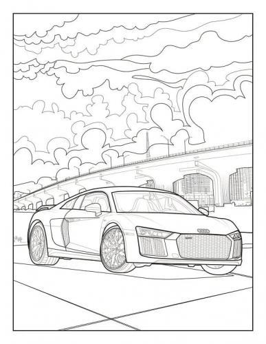 disegni paesaggio e macchina