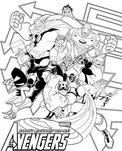disegni da colorare e stampare Avengers