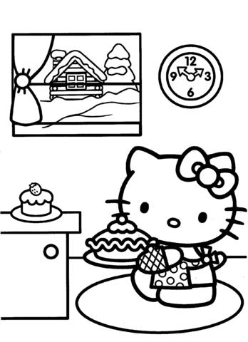 disegni da colorare e stampare di hello kitty