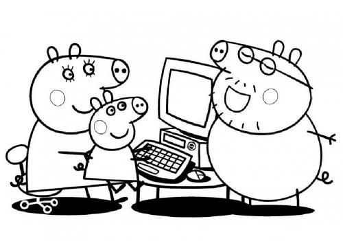 disegni da colorare e stampare di peppa pig