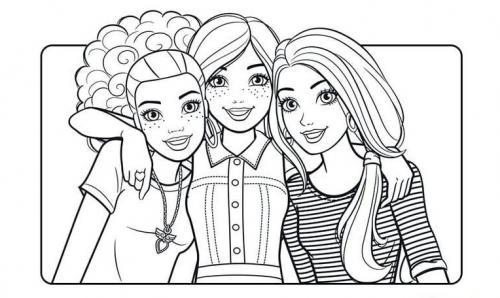 disegni da colorare e stampare gratis di barbie
