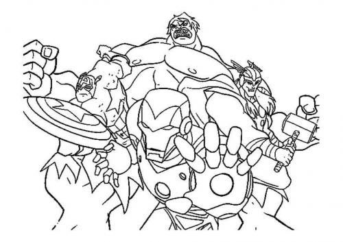disegni da colorare e stampare hulk