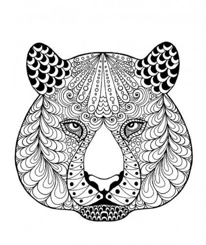 disegni da colorare e stampare tigre mandala