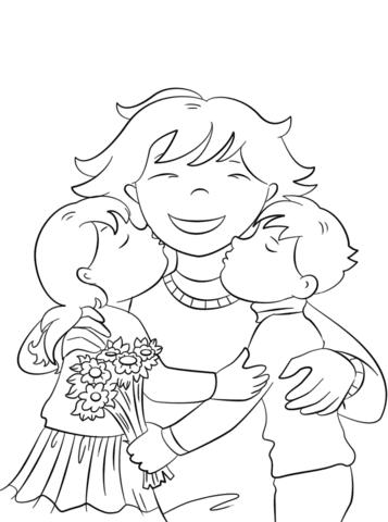 disegni da colorare festa della mamma