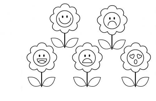 disegni da colorare fiori buffi