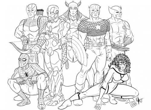 disegni da colorare gratis Avengers