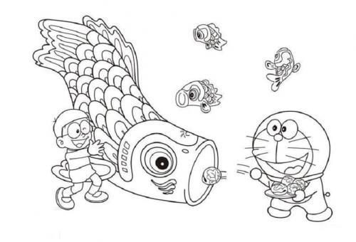 Disegni da colorare gratis Doraemon