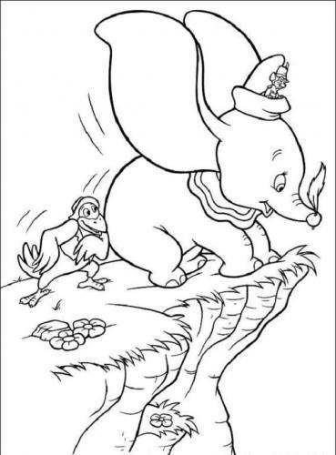 disegni da colorare gratis Dumbo