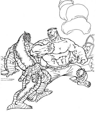 disegni da colorare gratis hulk