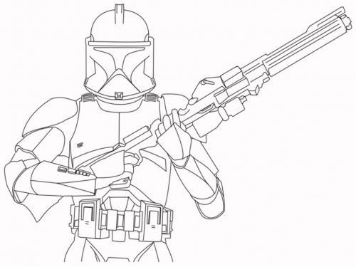 Disegni da colorare gratis Star Wars