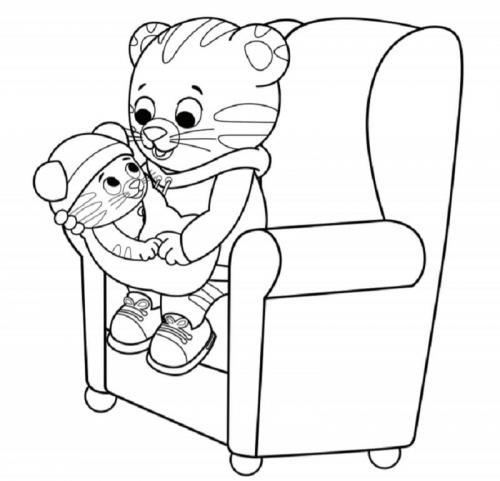 disegni da colorare gratis tigre Daniel Tiger