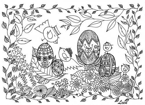 disegni da colorare gratis uova di pasqua
