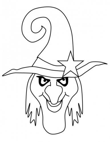 strega con stella sul cappello