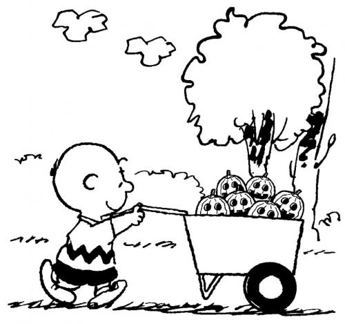 Charlie Brown con le zucche