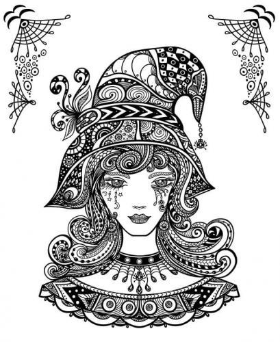 ragazza vestita da strega
