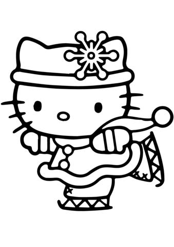 disegni da colorare hello kitty online
