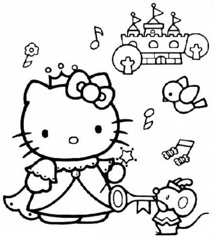 disegni da colorare hello kitty per bambini