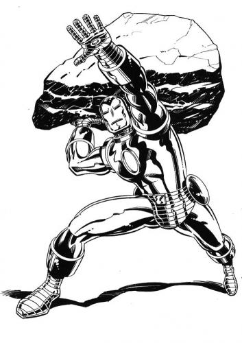 disegni da colorare Iron Man