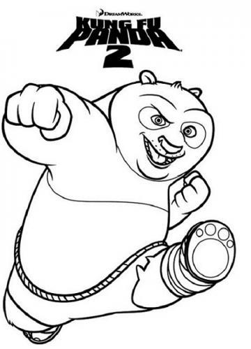 disegni da colorare Kung Fu Panda