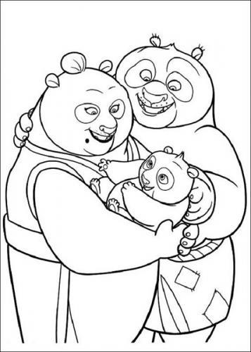 disegni da colorare Kung Fu Panda 3