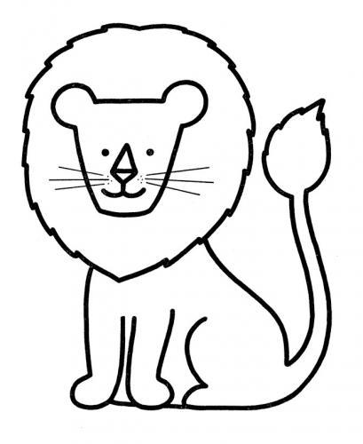 disegni da colorare leone