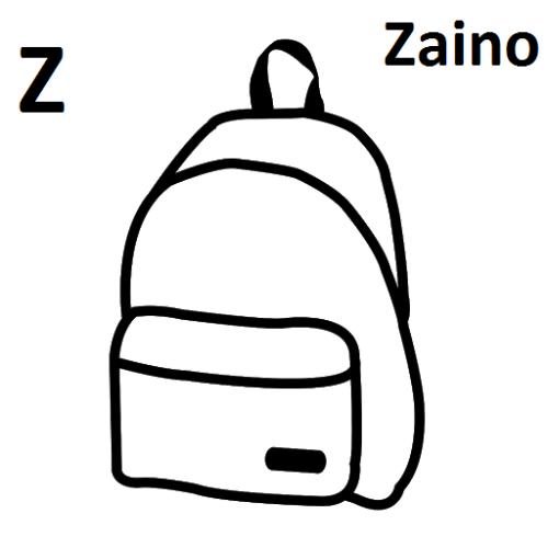 disegni da colorare lettere alfabeto Z