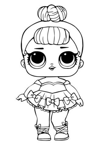 disegni da colorare lol ballerina