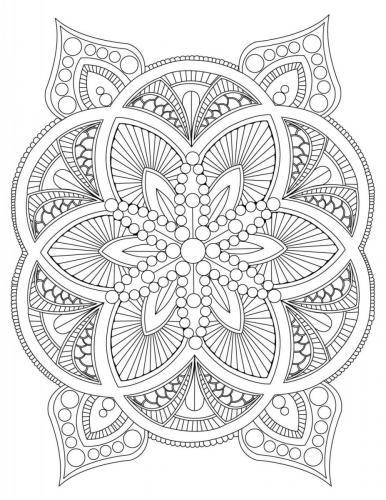 disegni da colorare mandala difficili